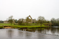 Misty Scenery in Wharfedale Royalty Free Stock Images
