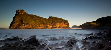 Misty sea and rocks. Long exposure image of the ocean Stock Photography