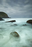 Misty sea and rocks. Long exposure image of the ocean Royalty Free Stock Photos