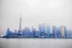 Misty Shanghai Stock Photo