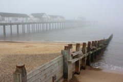 Misty Southwold Pier Royalty Free Stock Photography