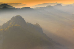Misty Spring Beautiful Pieniny Stock Photo