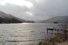 Misty Spring Evening on Loch Earn Stock Image
