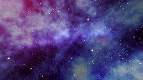 Misty Star Field en univers illustration de vecteur