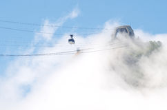 Misty Sugarloaf Pao de Acucar Mountain Cable Car Rio Royalty Free Stock Photos