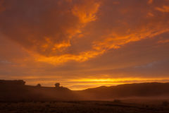 Misty Sunrise Royalty-vrije Stock Afbeelding