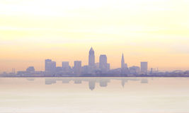 Misty sunrise in Cleveland Royalty Free Stock Photography