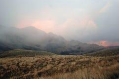 Misty sunrise Stock Images