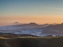 Misty sunrise. Royalty Free Stock Image