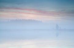 Misty sunrise over lake Royalty Free Stock Photography