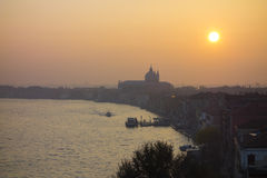 Misty sunrise over Venice Italy Royalty Free Stock Image