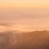 Misty Sunset Royalty Free Stock Photo