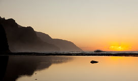 Free Misty Sunset On Na Pali Coastline Stock Photo - 23232180