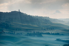 Misty Tuscan hills Royalty Free Stock Photography