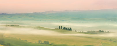 Misty Tuscany Royalty Free Stock Photos