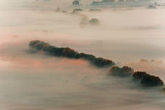Misty valley Stock Images
