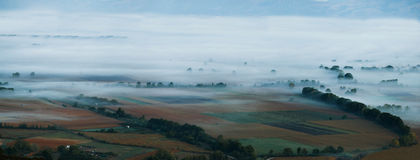 Misty valley Royalty Free Stock Photography
