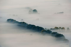 Misty valley Stock Photography