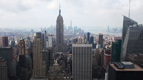 A misty view of the Manhattan Skyline stock video footage
