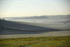 Misty view of the vale of the white horse Royalty Free Stock Image