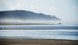 Misty Washington Coast. On a fall day Stock Images