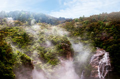 Misty Waterfall Royalty Free Stock Images