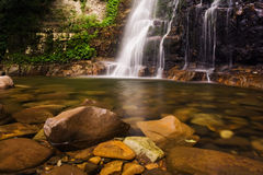 Misty Waterfall. Minnamurra falls in NSW, Australia royalty free stock photography