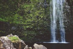 Misty Waterfall stock photography