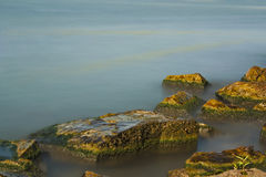 Misty waters background Stock Photo