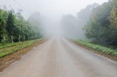 Misty way in rural Stock Photo