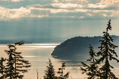 Misty Whidbey Island Images stock
