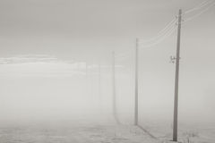 Misty winter in bw Royalty Free Stock Photos