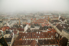 Misty winter in Vienna Royalty Free Stock Photography
