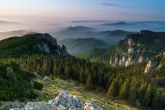 misty wschód słońca Fotografia Royalty Free