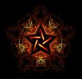 Mistyczna ognista gwiazda royalty ilustracja