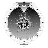 Mistyczni symbole początek życia radiolaria święty Obraz Royalty Free