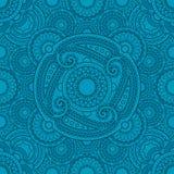 Mistyczny błękita wzór z mandalas ilustracja wektor