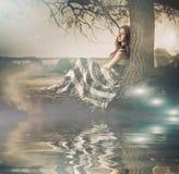 Mistyczny drzewny widok Obraz Royalty Free