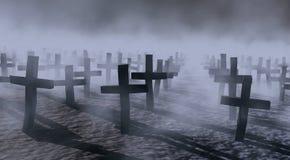 mistyczny na cmentarz. Zdjęcie Stock