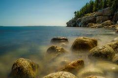 Mistyczny przypływ na wybrzeżu Maine Obraz Stock