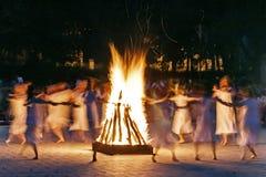 Mistyczny taniec 2 Zdjęcie Stock