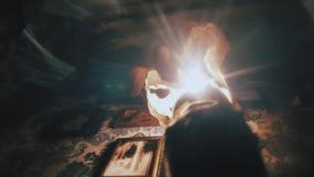 Mistyczny wnętrze poszukiwanie zdjęcie wideo