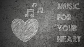 Misuc para su corazón Foto de archivo libre de regalías