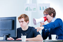 Misunderstanding arguing and harassing each other Royalty Free Stock Images