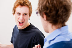Misunderstanding arguing and harassing each other Royalty Free Stock Photography