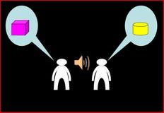 Misunderstanding. Conflict of interest. The picture shows Misunderstanding. Conflict of interest Royalty Free Stock Photo
