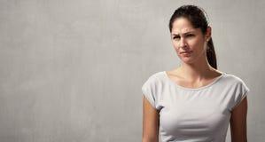 Misunderstanding girl Stock Image