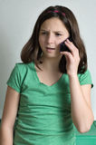 Misunderstanding on the phone Stock Images