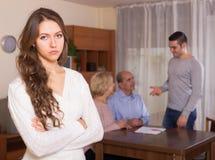 Misunderstending in family Stock Photos