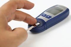 Misura del glucosio fotografia stock libera da diritti
